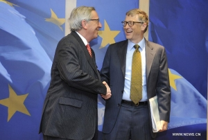 European Commission President meets with Bill Gates in Brussels
